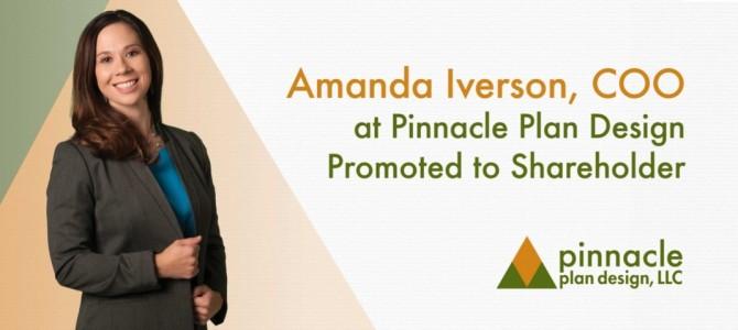 Amanda Iverson, COO at Pinnacle Plan Design Promoted to Shareholder