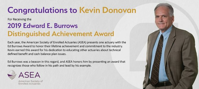 Kevin J. Donovan of Pinnacle Plan Design Receives ACOPA's Edward E. Burrows Distinguished Achievement Award