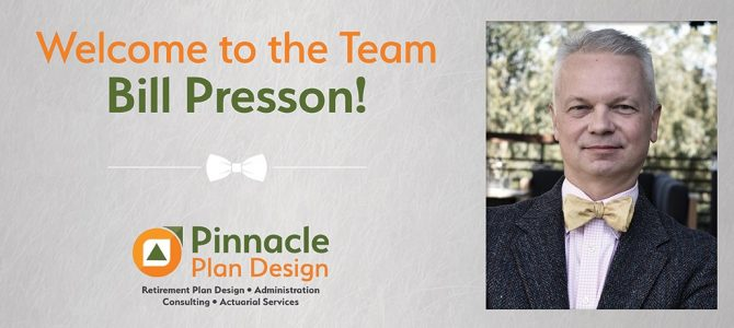Welcome to the Team, Bill Presson!