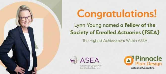 Lynn Young named a Fellow of the Society of Enrolled Actuaries (FSEA)